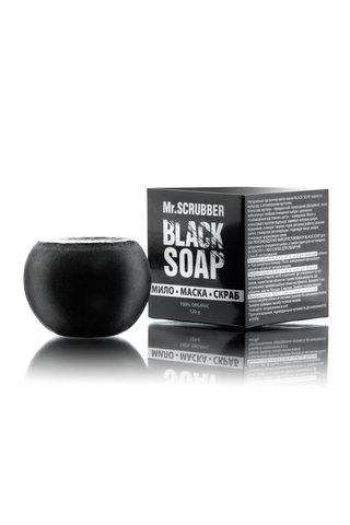 Черное мыло-маска для лица Mr.Scrubber Black Soap