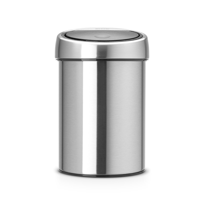 Мусорный бак Brabantia Touch Bin (3л), Матовая сталь, арт. 363986 - фото 1
