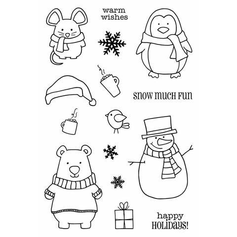 Набор силиконовых штампов -Winter Wishes