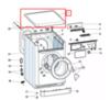Верхняя крышка (рабочий стол) для стиральной машины Indesit/Ariston -116555