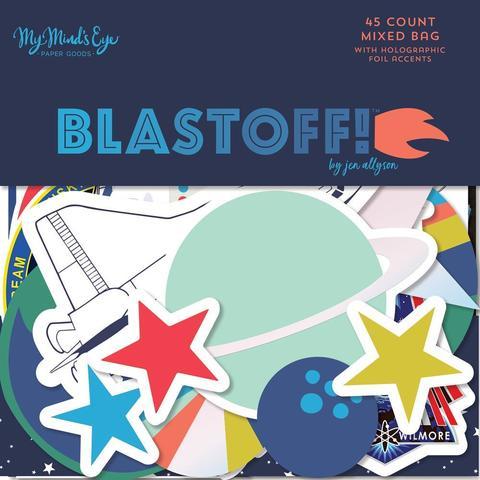 Высечки  - Blastoff от MME- 45 шт.