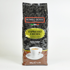 Кофе ROMEO ROSSI  Эспрессо зёрна КРЕМА Коричневый 500 гр