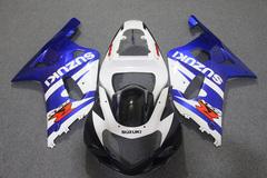 Комплект пластика для мотоцикла Suzuki GSX-R600/750 01-03 Сине-Белый