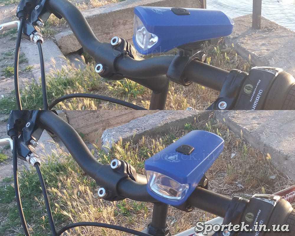 Передний трехрежимный велосипедный фонарь (HYD-010) на руле