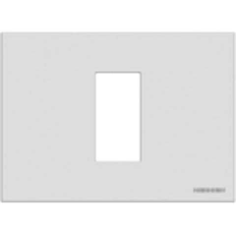 Рамка на 1 пост - 1 модуль, итальянский стандарт. Цвет Белый. ABB(АББ). Niessen Zenit(Ниссен Зенит). N2471 BL