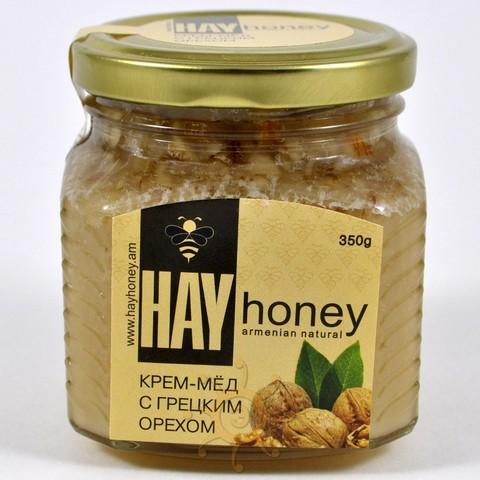 Крем-мёд с грецким орехом Hay Honey, 350г