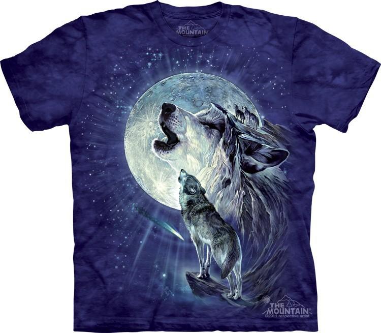 Футболка Mountain с изображением воющих волков - Full Moon Gravity