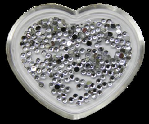 ЭК Стразы акриловые 200шт/ 1   SS4-серебряный круглый