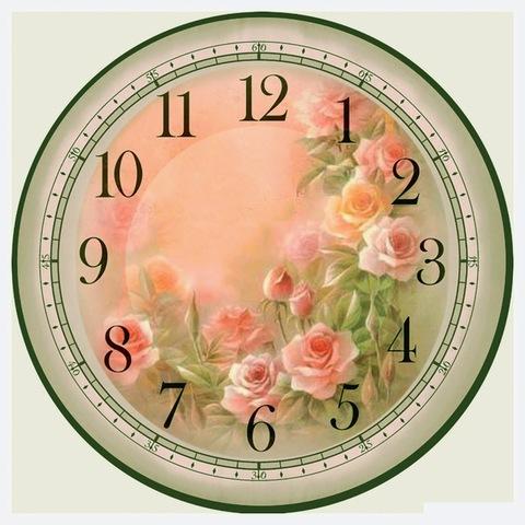 017-6808 Набор для творчества - декупаж с нуля Часы