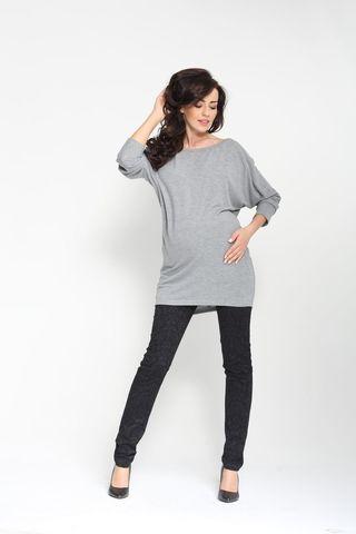 Блузка 00074 серый