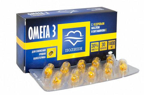 ОМЕГА-3 30% с кедровым маслом и витамином E 1,4 N30