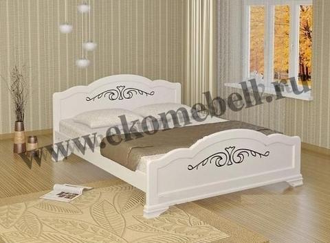 Кровать *Муза* белая полуторная