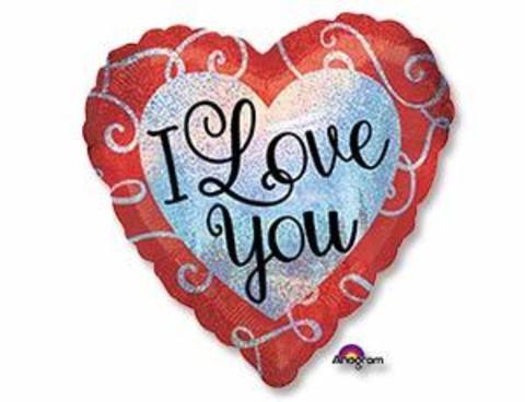Фольгированное сердце I LOVE YOU