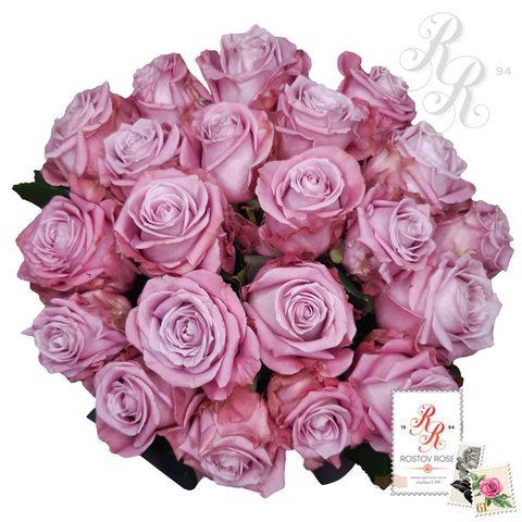Букет 21 местная сиреневая роза