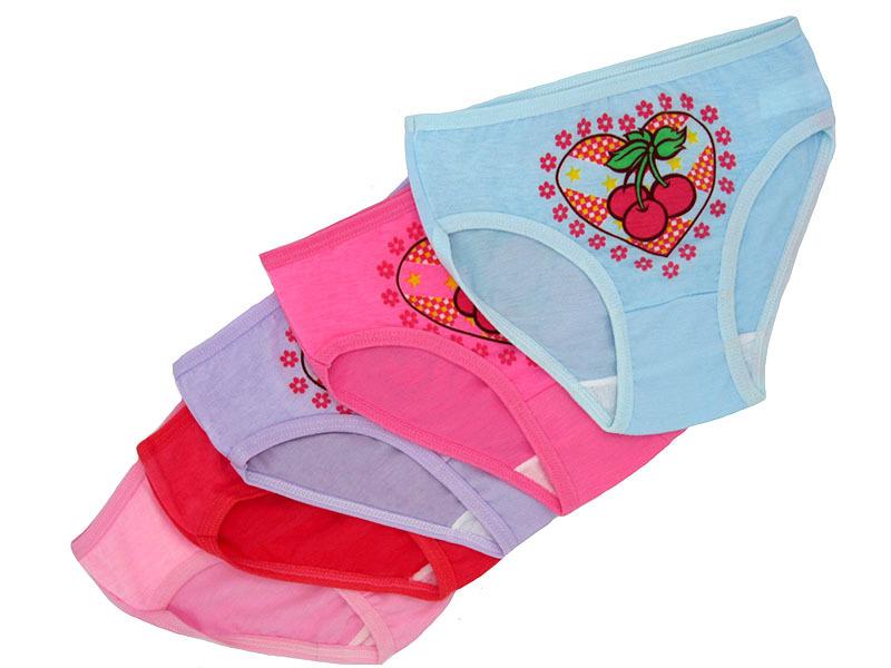 W1079 трусы для девочек, цветные