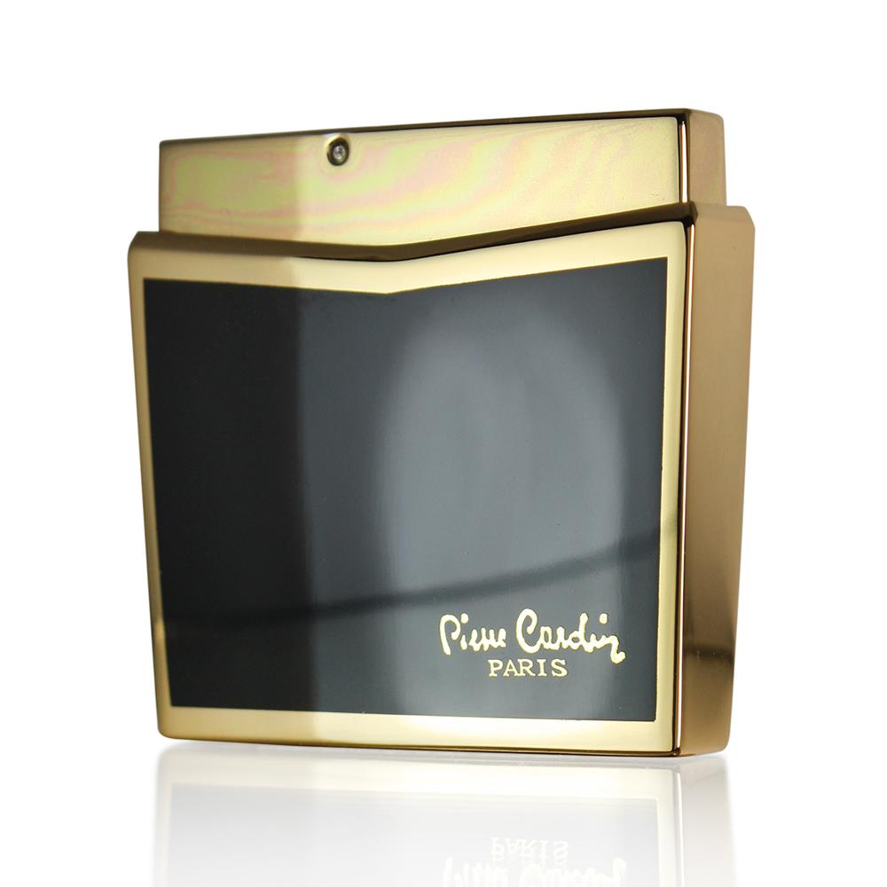Зажигалка Pierre Cardin кремниевая газовая пьезо, цвет позолота/черный лак, 5,2х1,1х4,5см