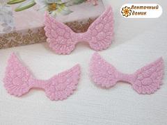Декор глиттерный крылья розовые