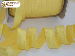 Резинка для повязок с легким блеском желтая ширина 16 мм