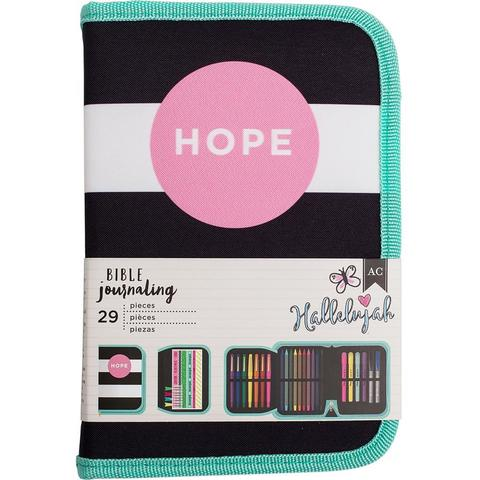 Пенал с наполнением American Crafts Bible Journaling Pen Pouch - Hope