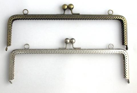 Фермуар (рамочный замок) прямоугольный, 25 см (выбрать цвет)