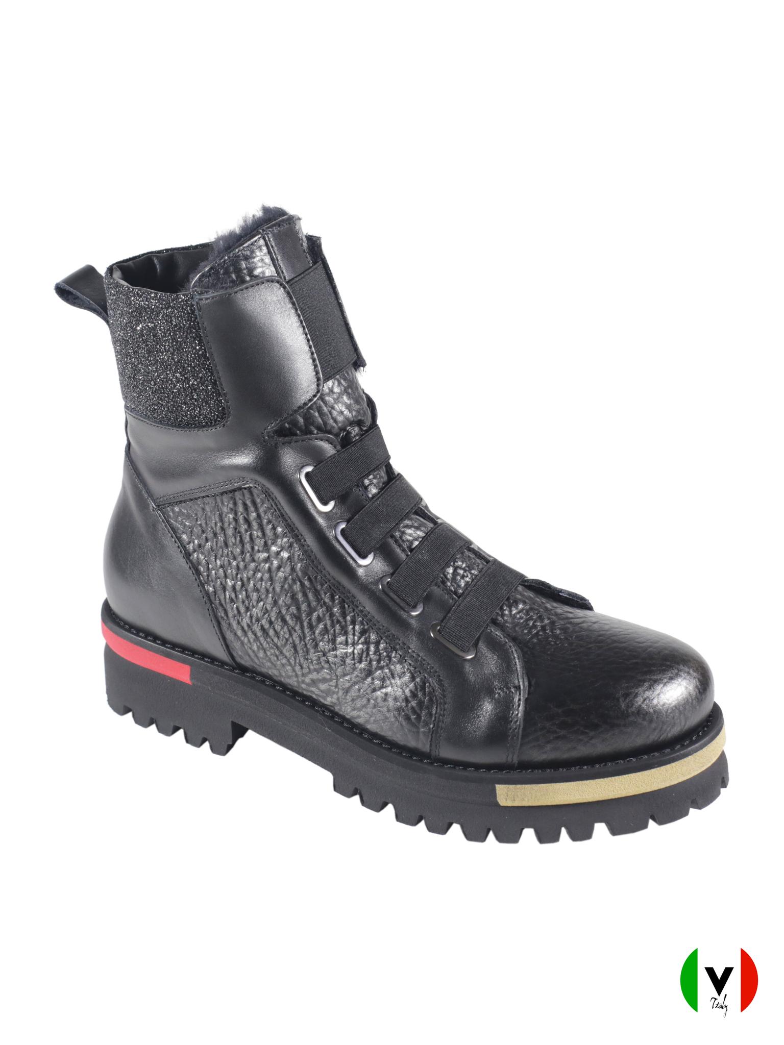 Зимние ботинки Laura Bellariva в спортивном стиле 4527, артикул 4527, сезон зима, цвет чёрный, материал кожа, цена 16 500 руб., veroitaly.ru