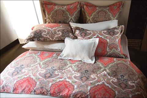 Постельное белье 2 спальное Mirabello Arbaz кораллово-коричневое