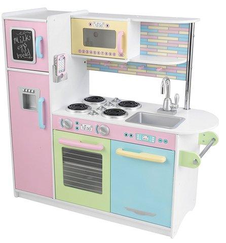 KidKraft Пастель Pastel Uptown Espresso Kitchen - детская кухня 53257_KE