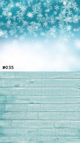 Фотофон виниловый стена-пол «Снежинки на доски» №035