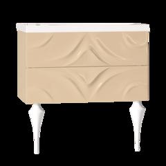 Тумба с раковиной Marka One Angel 80П 2 ящика, vanilla