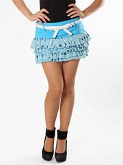 5419 юбка голубая