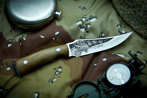Охотничий нож Клык-2 с глубоким Рисунком