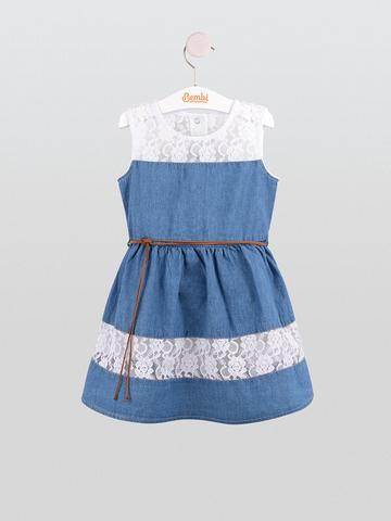 ПЛ215 Платье джинсовое для девочки