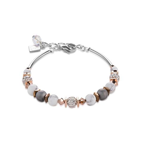 Браслет Coeur de Lion 4846/30-1214 цвет серый, белый, серебряный, золотой