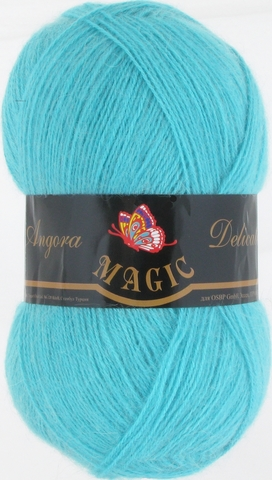 Пряжа Angora Delicate Magic 1113 Светлая голубая бирюза - купить в интернет-магазине недорого klubokshop.ru
