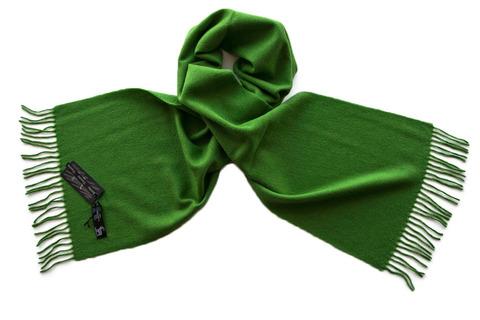 Шерстяной шарф, мужской ярко-зеленый 16905