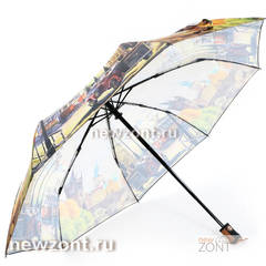 Дамский зонт полный автомат Magic Rain старая Прага