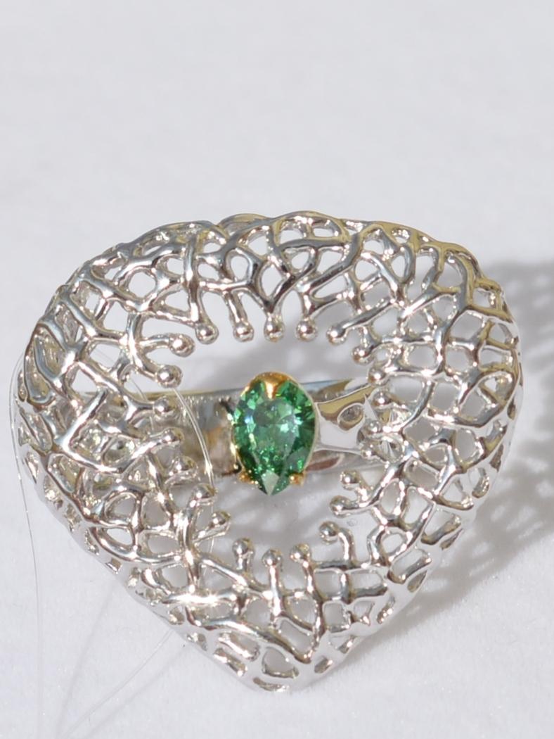 Сердце (кольцо из серебра)