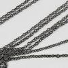 Цепь (цвет - черный никель) 2х1,8 мм, примерно 2 м