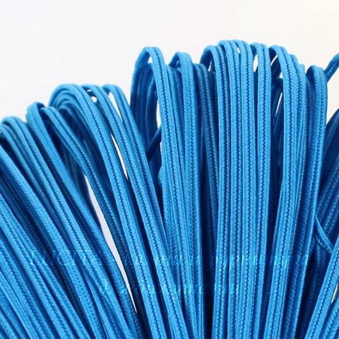 Сутаж, 3х1 мм, цвет - темно-голубой, примерно 1 м