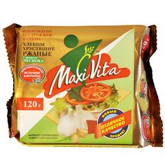 Хлебцы ржаные с чесноком  Maxi Vita 150 г
