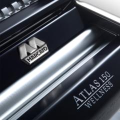 Marcato Atlas 150 mm Design Black home-made pasta machine