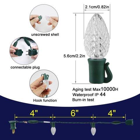 схема светодиодной гирлянды шишки шарики