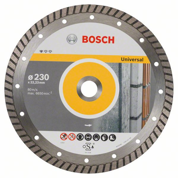Алмазный диск Standart for Universal Turbo 230-22,23 10 шт Bosch 2608603252