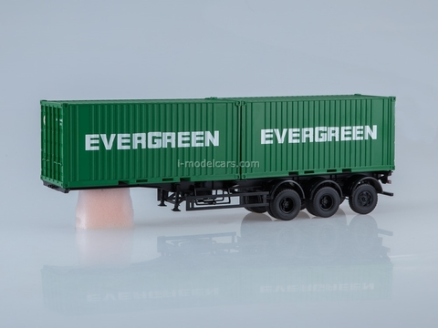 Semitrailer container chassis MAZ-938920 EVERGREEN 1:43 AutoHistory
