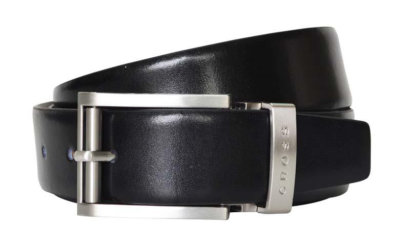 Ремень двусторонний чёрный\коричневый брючный Cross Classic Century AC018193