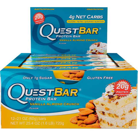 Quest Nutrition Quest Protein Bar Vanilla Almond Crunch (Ваниль-миндаль), 12 шт