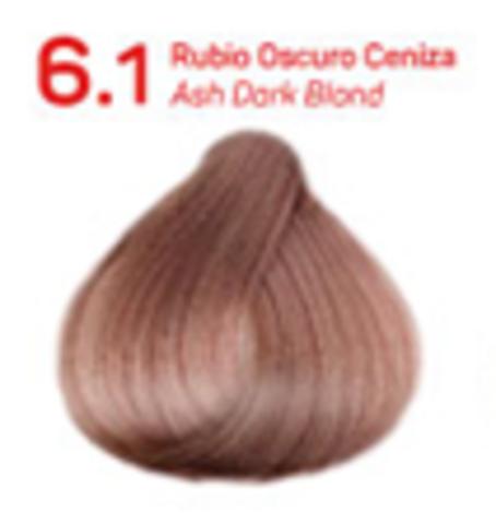6.1 темно-пепельный блондин. Краситель для волос с эффектом лифтинга KV-1