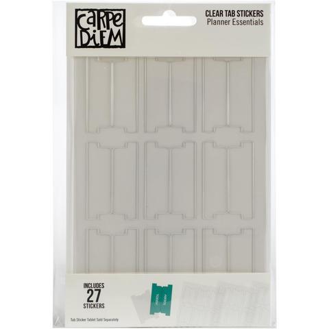 Ацетатные табы на клеевой основе для ежедневников Carpe Diem Clear Tab Stickers- 27 шт