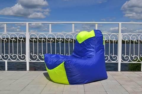 Кресло-мешок «Классическое» Синий и Лайм