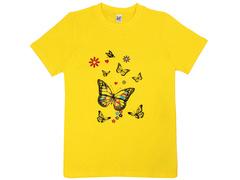 18059-1 футболка для девочек, желтая